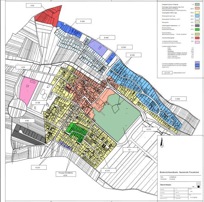 Aktuelle Bodenrichtwertkarte