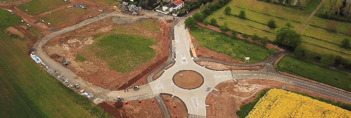 Kreisverkehr Luftbild