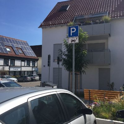 """E-Ladesäule am ehemaligen """"Hirschareal"""""""